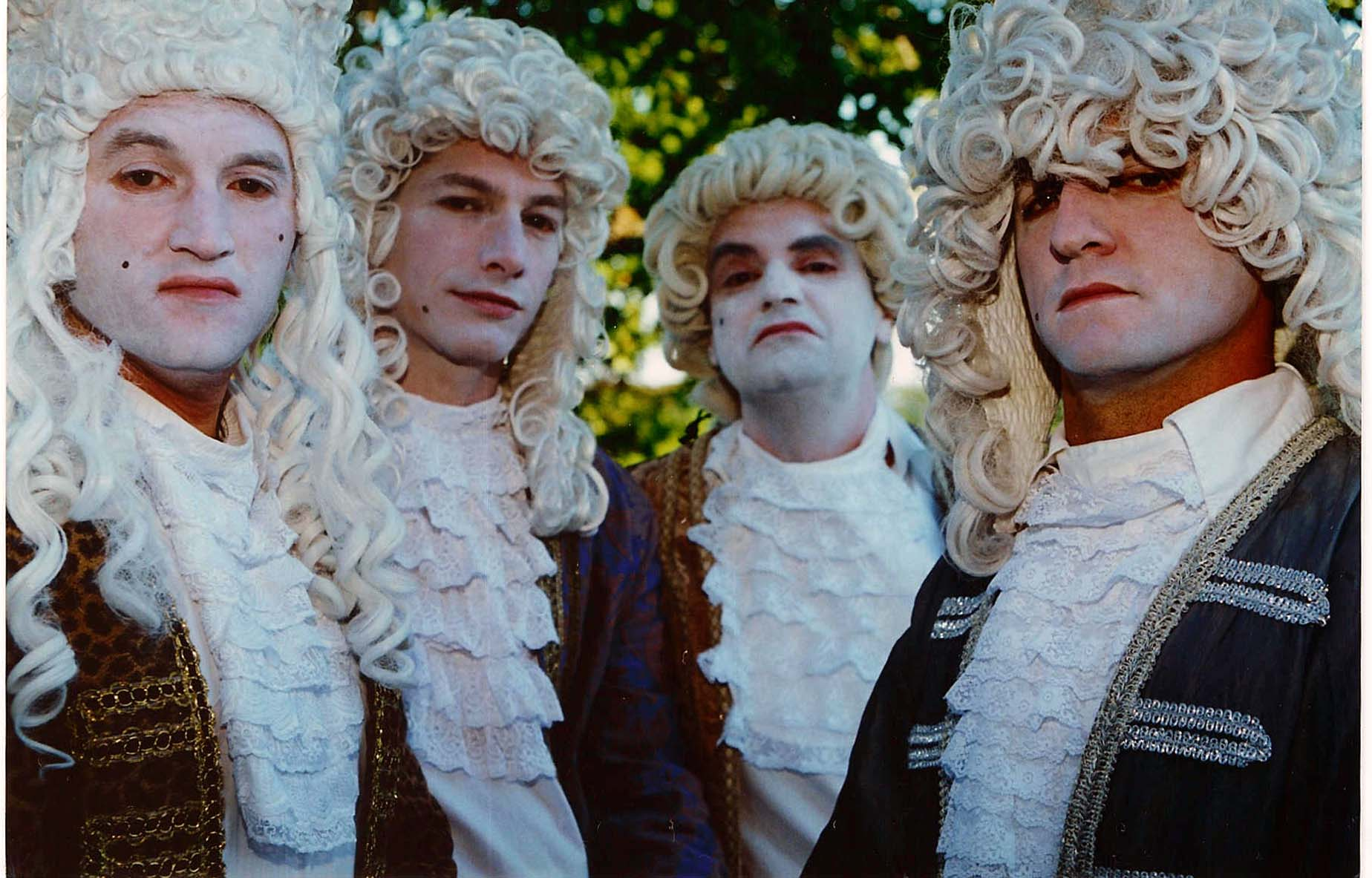 Men in Powdered Wigs 1700s