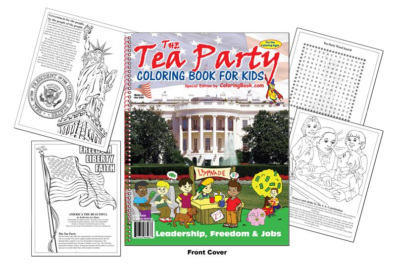 The Tea Party Coloring Book for Kids\' - Culture Desk - An ...