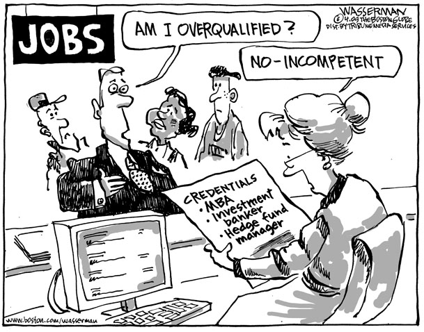 Job Search Out Of Line Online Cartoons By Dan Wasserman Boston Globe Editorial Cartoonist Boston Com