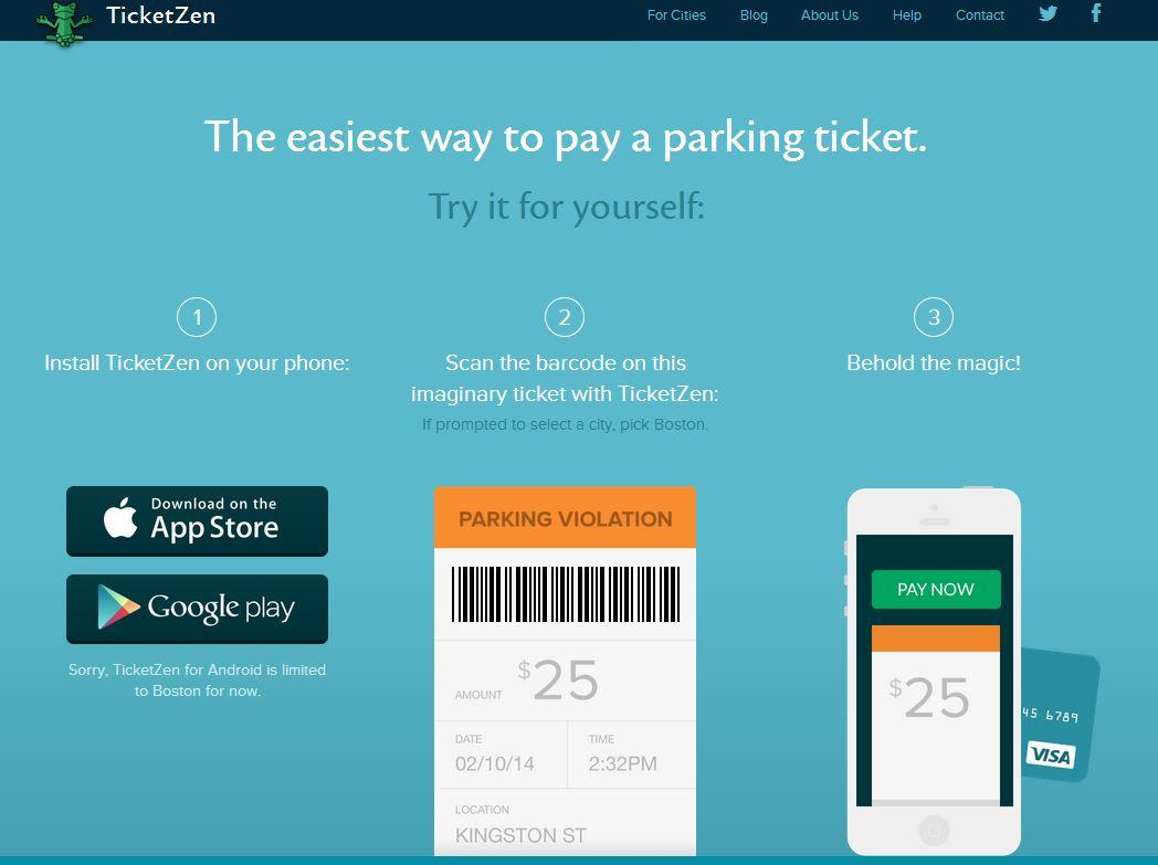 Ticketzen scans parking ticket barcodes for fast online payment
