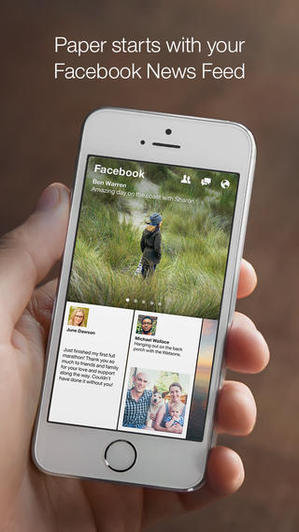 Paper - Stories from Facebook New Mobile App