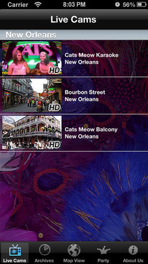 Mardi Gra Live! Mobile App via Earth Cam - HD Videos