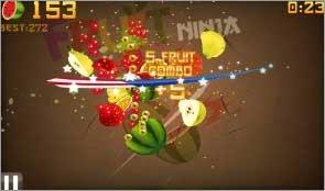 Fruit Ninja Free: A kid-friendly game filled with fruit-slashing fun