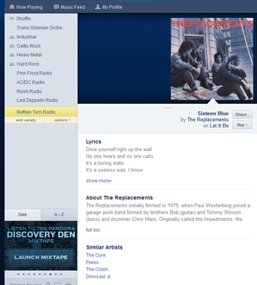 Pandora: A music app that serves up a personalized radio station ...