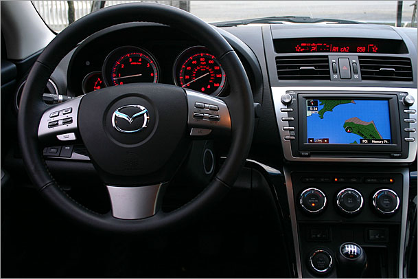 2009-Mazda-6-interior.jpg. Features we liked included the lighting — LED