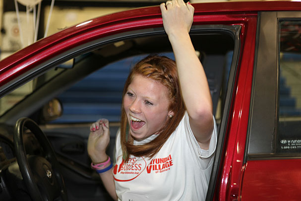 O Brien Hyundai >> High schoolers win used cars at Village Automotive dealers ...