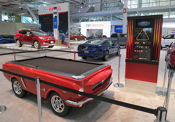 Boston Auto Show Play Pool On A 65 Ford Mustang