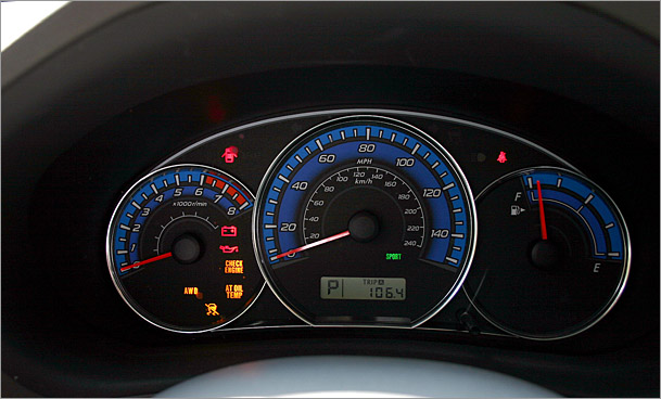2009 Subaru Forester X gauges