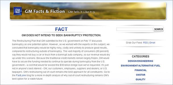 Screenshot of gmfactsandfiction.com