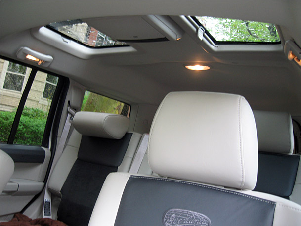 Jeep Commander Interior Rear on Overland Range Rover Sport