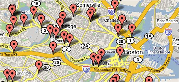 Boston.com pothole map