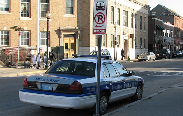 Boston police illegal parking