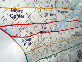 Map of tornado path through springfield