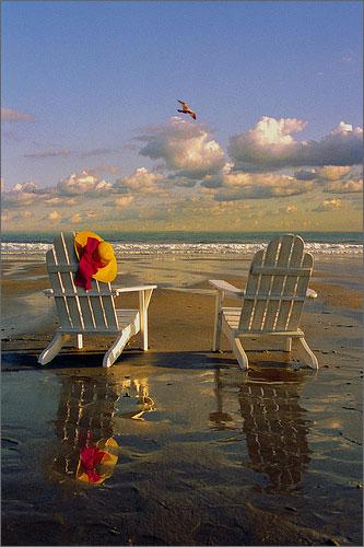 Adirondack Chairs on Kennebunk Beach
