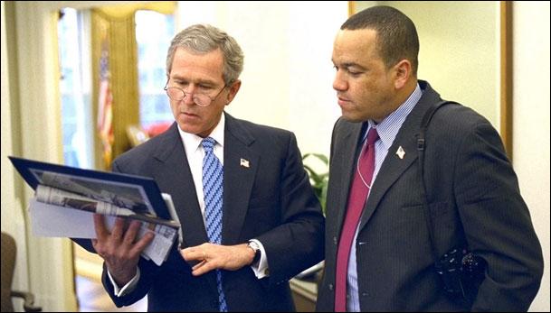 Eric Draper with President Bush