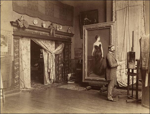 John Singer Sargent in his Paris studio