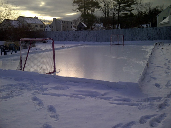 Build your own backyard ice rink Boston dadapproved tips  DIY