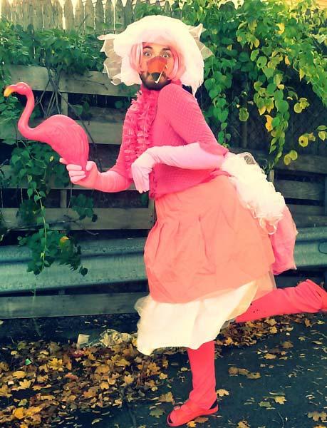 Halloween Flamingos
