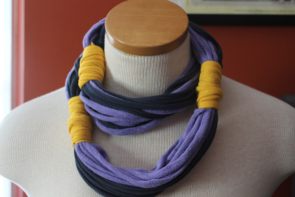 5 minute DIY: Upcycled T-shirt necklaces - DIY Boston ...