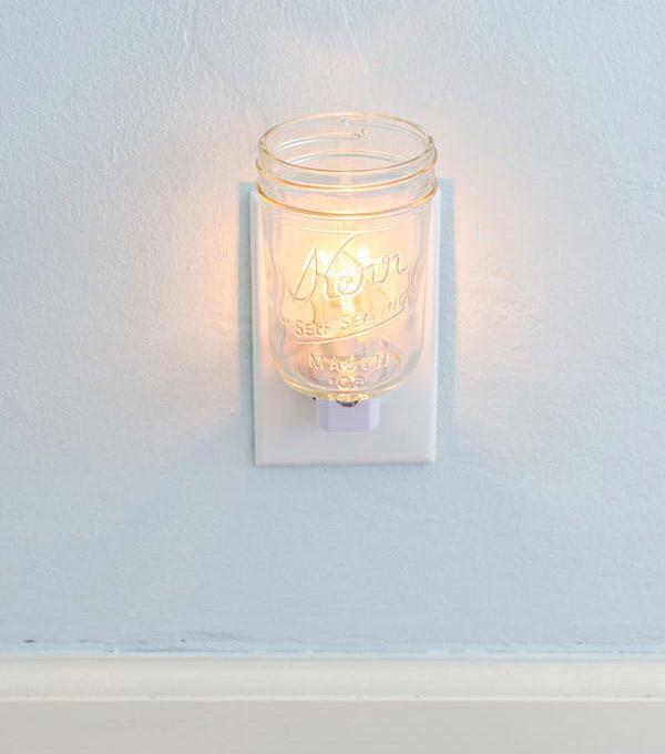 kerr mason jar night light DIY