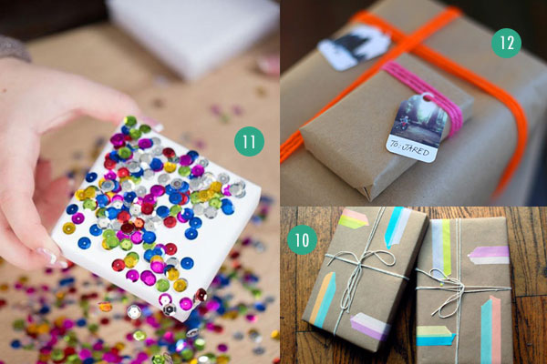 20 last minute gift wrap ideas using paper grocery bags other kraftpapergiftwrap101112g negle Choice Image