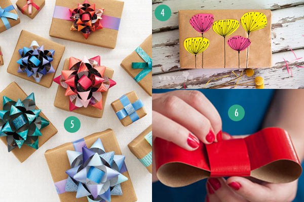 20 last minute gift wrap ideas using paper grocery bags other kraftpapergiftwrap456g negle Choice Image