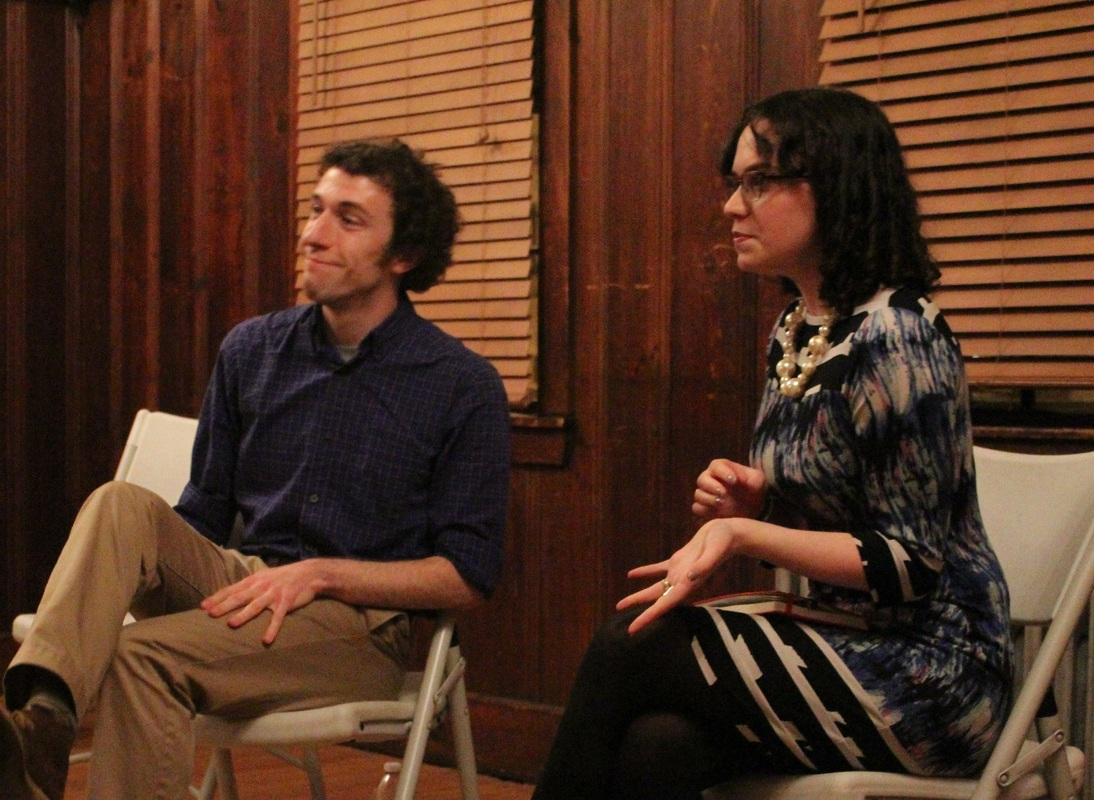 Co-Founders Max Mondi and Cassie M. Seinuk at 'Have You Read_ December' (Photograph by Jeffrey Mosser).jpg