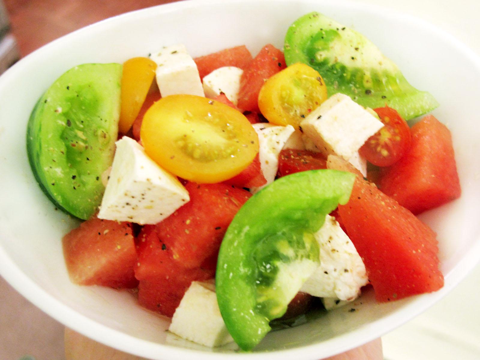 and feta salad watermelon heirloom tomato and feta salad recipes ...