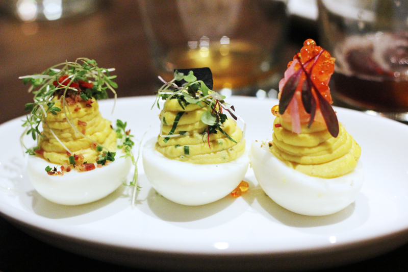 Trio of Deviled Eggs: Bacon, Mushroom Truffle, Smoked Salmon