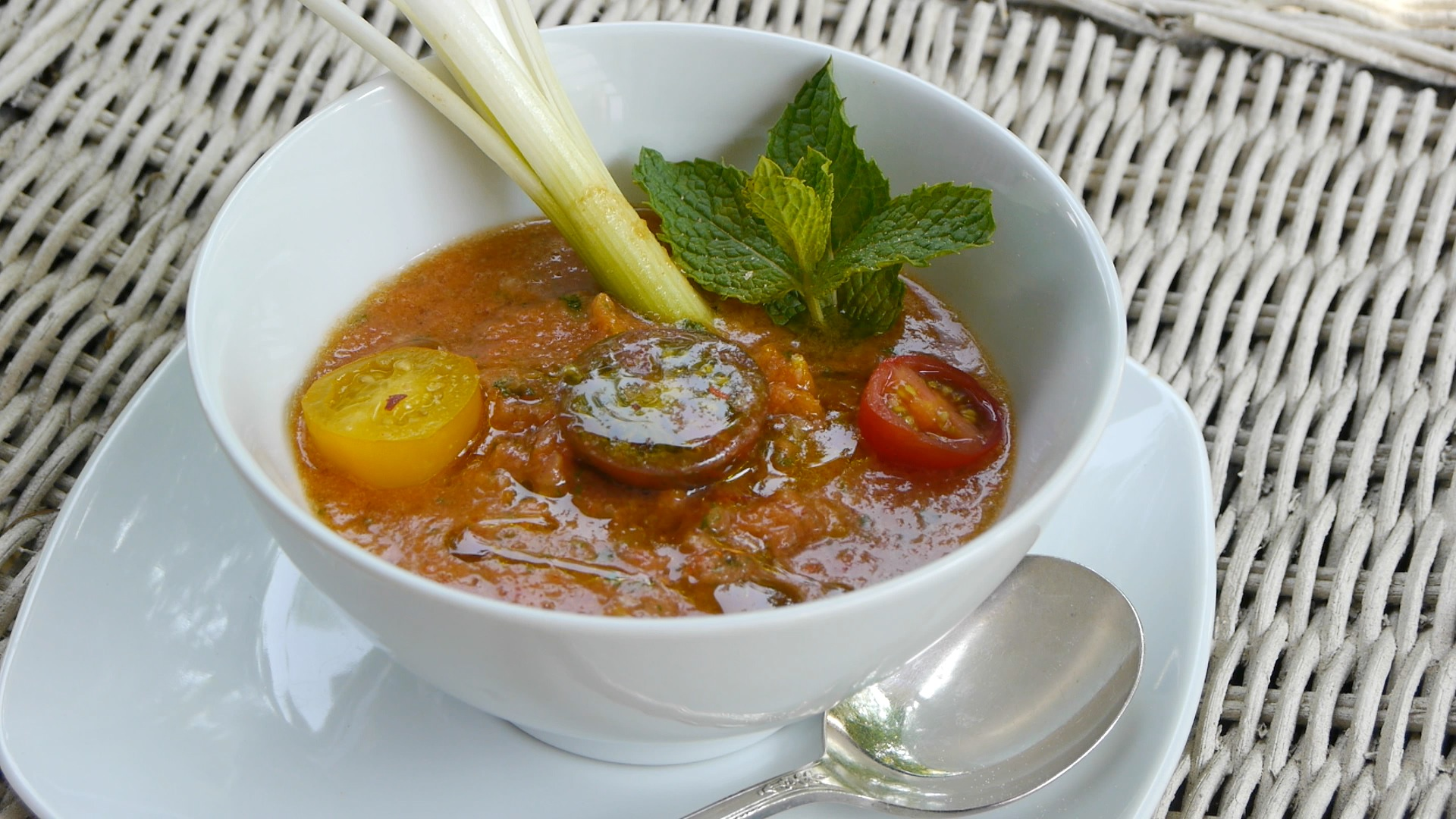 Chilled Heirloom Tomato Soup With Avocado & Lime