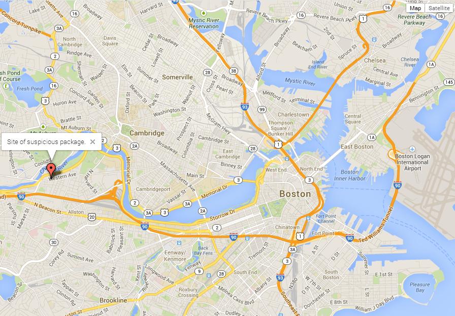 Police detonate suious package in Brighton - The Source ... on google earth boston, google weather boston, topo map boston, walk score boston, print out map of boston, mapquest boston, map of tremont street boston, detailed map of downtown boston, google massachusetts, high street map of downtown boston, directions to boston,