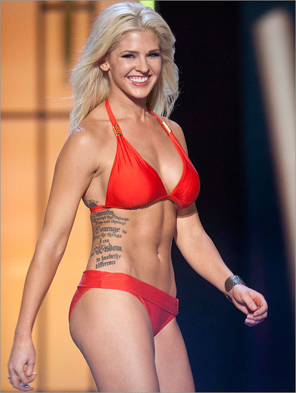 Tattooed Miss America hopeful gets plenty of ink after swimsuit ...