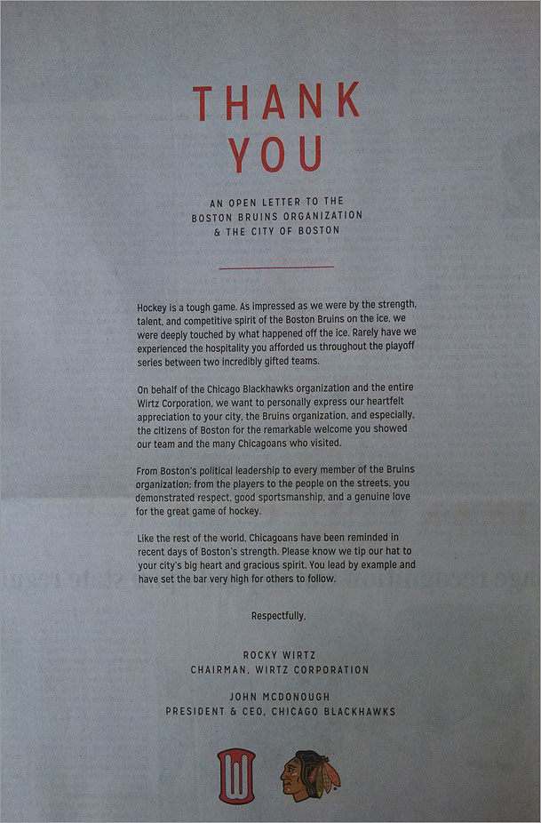 in a touching reference to aprils bombings during the boston marathon the letter reads