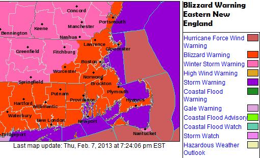 Blizzard of 2013 - Weather Wisdom - Boston Weather Forecast ...