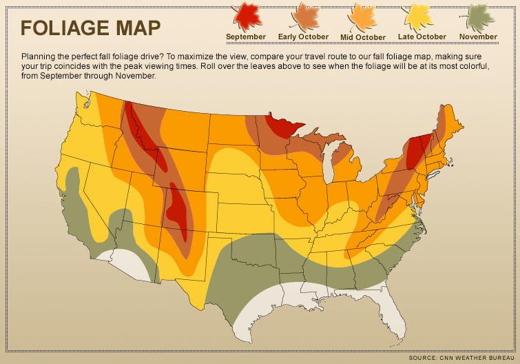Fall Foliage Map 2014