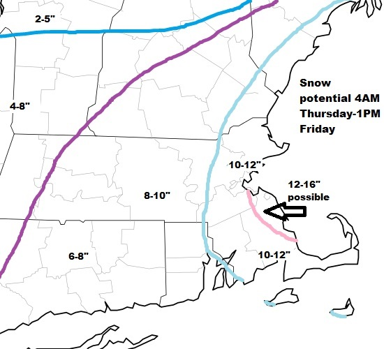 Winter storm warning for heavy snow, wind and cold   Boston.com
