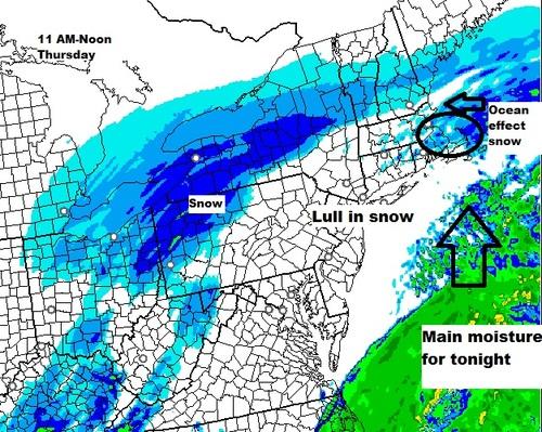 11%20AM%20radar-thumb-500x399-122329 Boston, NorthEast: Winter storm warning, blizzard warning south coast
