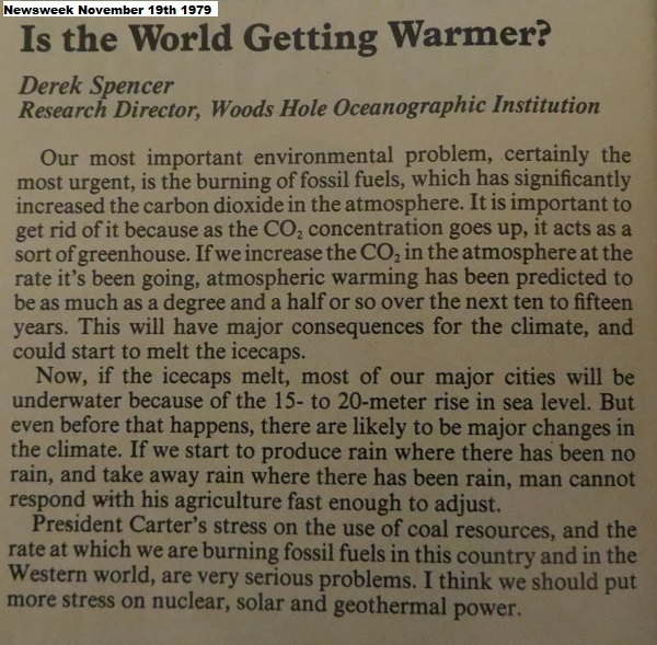 article of global warming from newspaper
