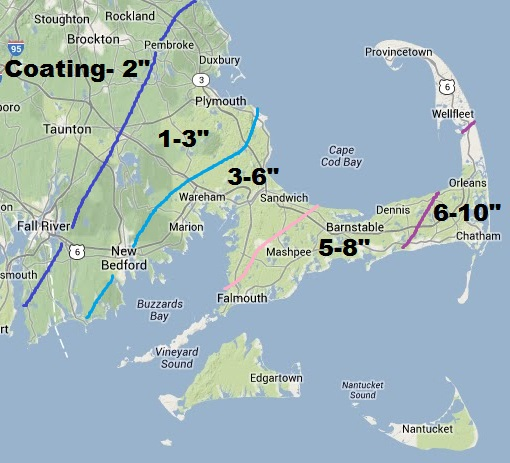 Ocean Storm Grazes By Boston, Brings A Blizzard To Cape Cod