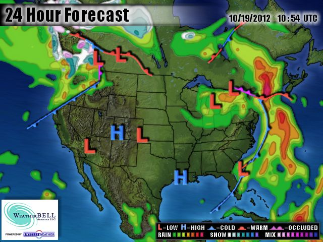 Rainy Today Dry For Regatta Rowers And Apple Pickers This Weekend - Us-weekend-weather-map