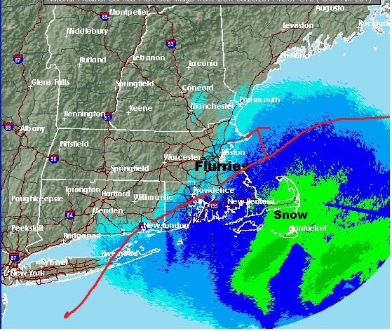 Ocean Storm Grazes By Boston, Brings A Blizzard To Cape