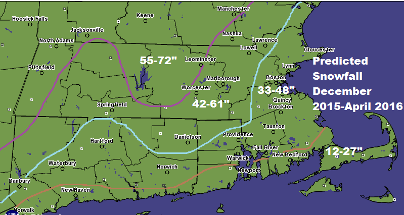 How Much Snow Will Boston And Southern New England Get This Winter - Snowfall totals massachusetts