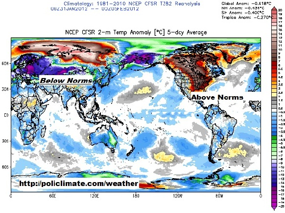 Much Of Europe And Western Asia Have Been Exceedingly Cold The Past Week Notice In This Picture Of The Globe How Cold It Is Across Those Areas