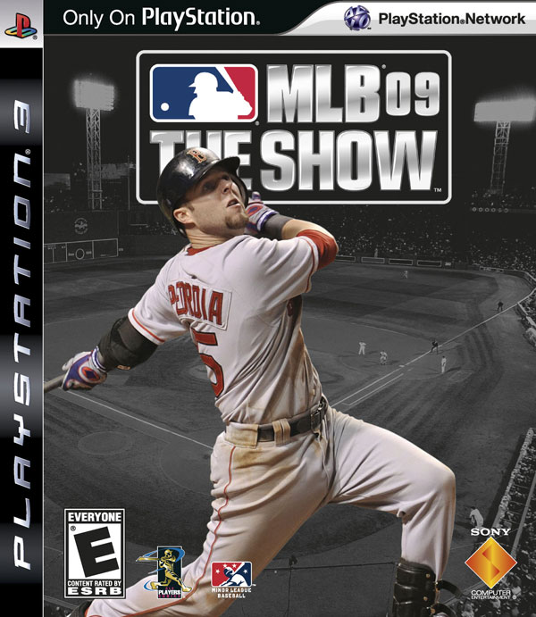Pedroia on cover of PS3\'s MLB 09 The Show; Papi and Joba together