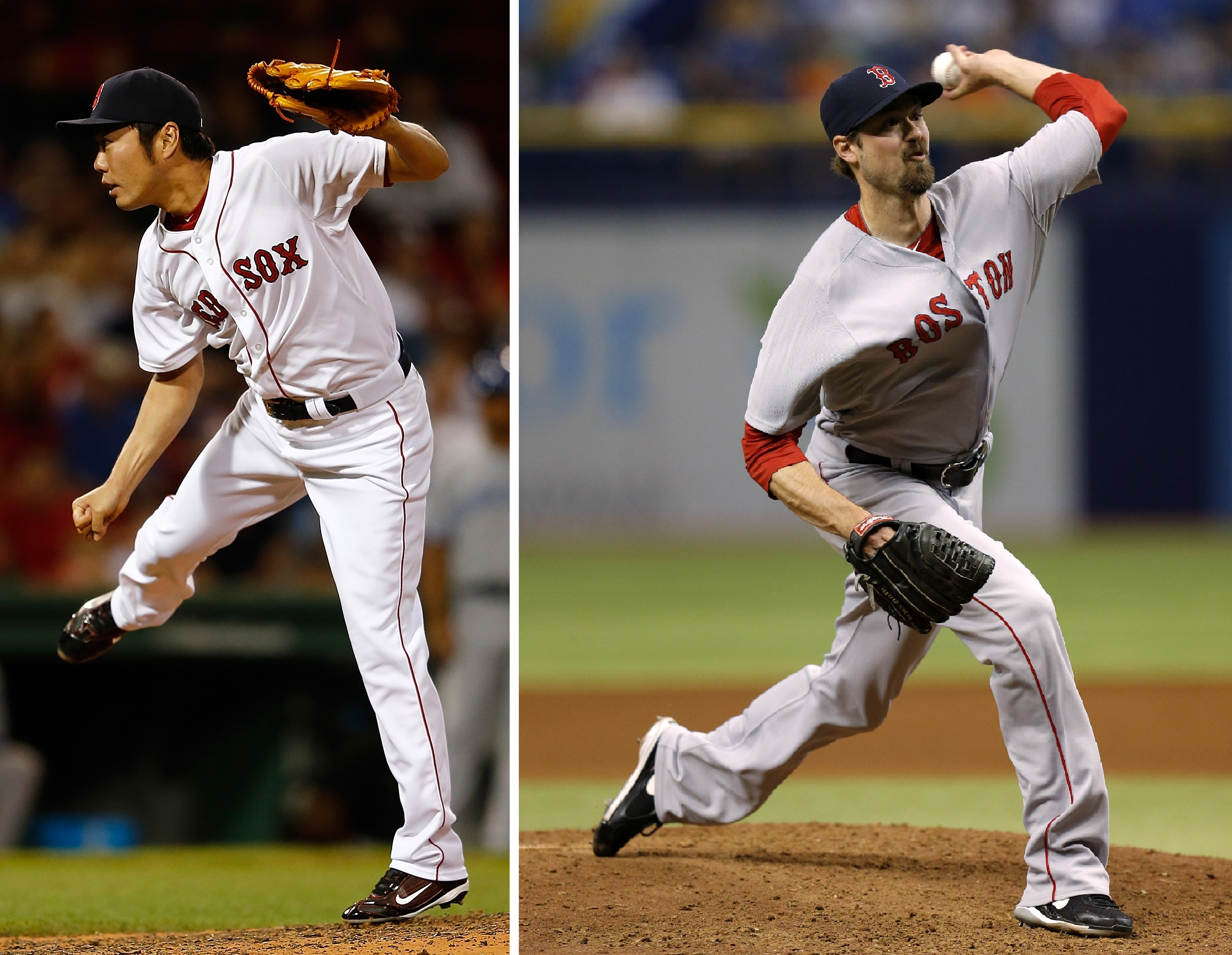 Miller, Koji Pitch as Members of the Red Sox for Perhaps the Final Time