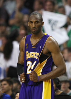 Kobe Bryant during Game 2. Reuters photo