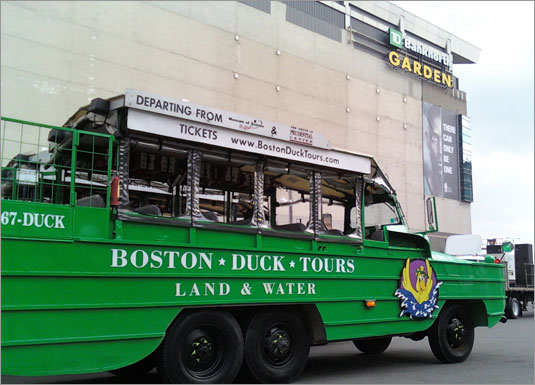 Duck boats arrive