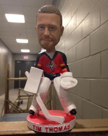 Trade Doesn T Stop Panthers From Hosting Tim Thomas Bobblehead Day