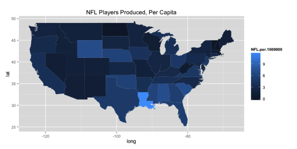 The United States Of Football The Harvard Sports Analysis Collective - Nfl us map