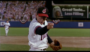 Sheen as Ricky Vaughn in Major League